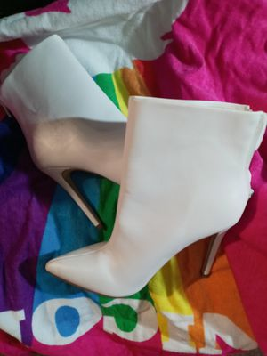 White heels/boots for Sale in Gainesville, FL