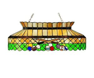 Tiffany Antique Billiard Island Lamp Stained Glass 6 Lights Island Pendant for Billiard Table for Sale in Glendale, AZ