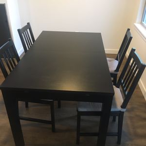 IKEA Bjursta extendable Dining Table & Stefan Chairs for Sale in Seattle, WA
