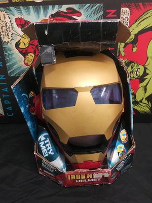 Costume Mask Marvel Avengers Electronic Iron Man Helmet Mask Voice Changing Works Cosplay for Sale in Alameda, CA