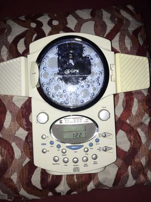 GPX Bathroom Shower Clock Radio AM/FM CD Player Model A330 LCD Display Speaker for Sale in Mesquite, TX