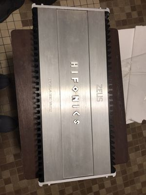 Zeus hifonics 4 channel for Sale in Chicago, IL