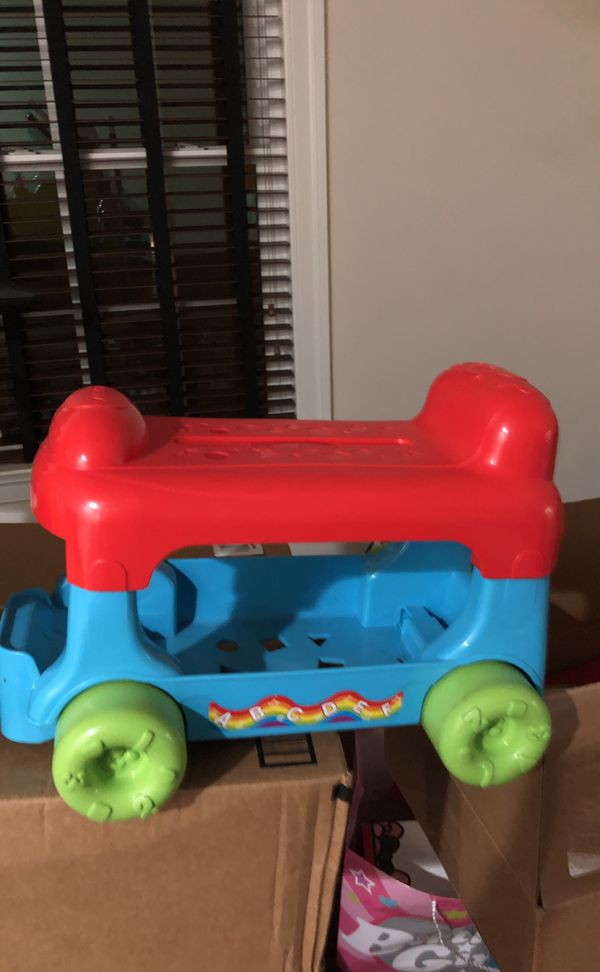 Kid learning toy train