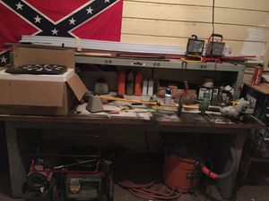 Work bench with electrical opponents for Sale in Abilene, TX