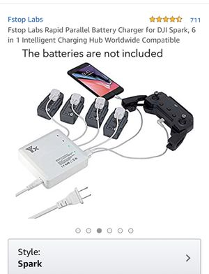 Charger for spark battery charger for DJI spark , 6 in 1 intelligent charging hub worldwide compatible brand new for Sale in Corona, CA