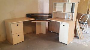 Corner desk unit. Desks, bookshelves, cabinets, file drawer for Sale in Chandler, AZ