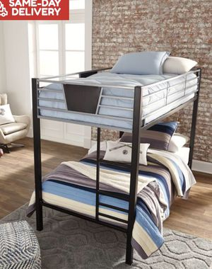 🎗/dinsmore-twin-twin-bunk-bed-in-black-gray 🎗brand new. Financing options 🎗 for Sale in Houston, TX