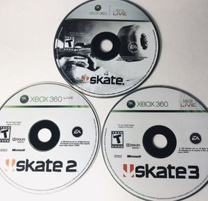 Xbox 360 Skate 1, 2 & 3 Work Perfectly for Sale in Columbus, OH