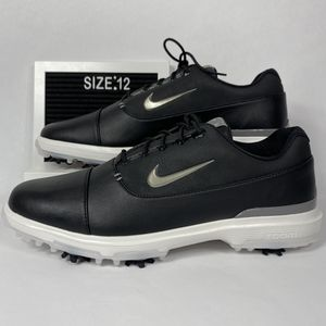 NIKE AIR ZOOM VICTORY PRO BLACK METALLIC PEWTER MENS GOLF SHOES CLEATS SIZE 12 NEW for Sale in Plano, TX