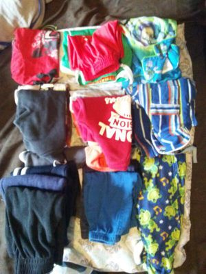 $2-$50 Boys shirts short n long sleeve, pants sweat and regular, pajama sets and one prices footie ,shorts,one piece short sets for summer,sneakers, for Sale in Philadelphia, PA
