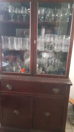 Antique display cabinet for Sale in Converse, TX