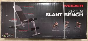 Weider XR 5.9 Adjustable Slant Weight Bench for Sale in Clearwater, FL
