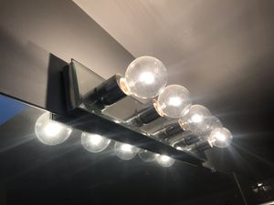 5 light mirrored fixture for bathroom for Sale in Annandale, VA