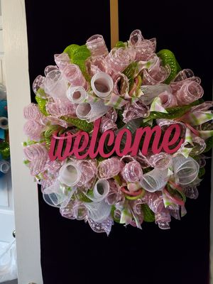 Pink Welcome Wreath 💗 for Sale in Greensboro, NC