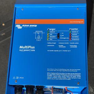 Victron Energy MultiPlus 3000VA 12-Volt Pure Sine Wave Inverter 120 amp Battery Charger for Sale in Coronado, CA