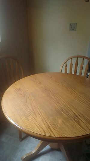 Kitchen table 4 chairs and leaf for Sale in Payson, AZ
