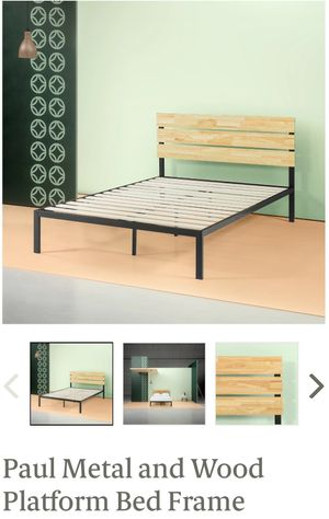 Zinus Paul Metal&Wood Platform Bed Frame Twin Size for Sale in Canal Winchester, OH