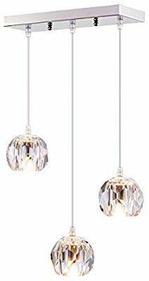 Calvin Patik 3 Light Crystal Globe Pendant for Sale in Ontario, CA