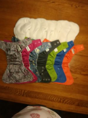 Cloth diapers GroVia AI2 covers and no prep soakers $65.00 for lot for Sale in Montesano, WA