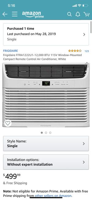 Frigidaire 12,000 BTU Window Unit for Sale in Staten Island, NY