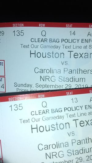 HOUSTON TEXANS TICKETS two tickets 150$ for Sale in Houston, TX