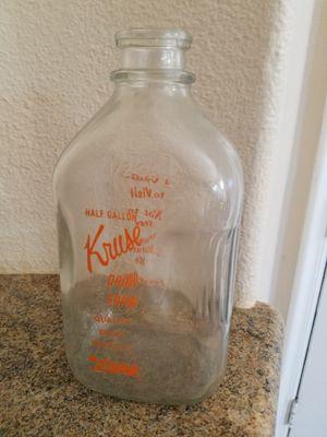 ANTIQUE GLASS MILK BOTTLE for Sale in Murrieta, CA