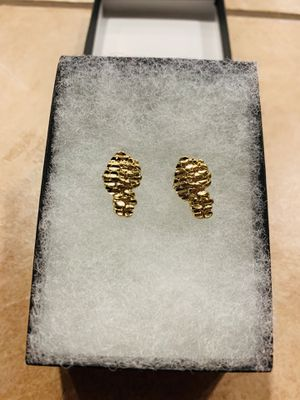 New Nugget Earrings 14K Gold Plated 16MM for Sale in Fresno, CA