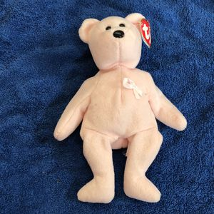 Pink ribbon beanie baby with tag for Sale in St. Helens, OR
