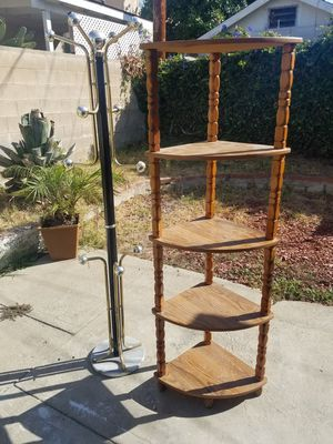 Clothes hanger and corner shelf for Sale in Temple City, CA