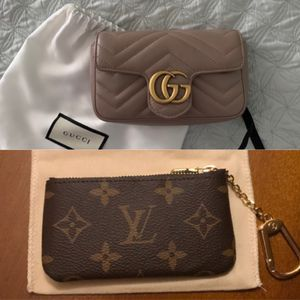 Louis Vuitton key pouch + Gucci marking super mini bag for Sale in Los Angeles, CA