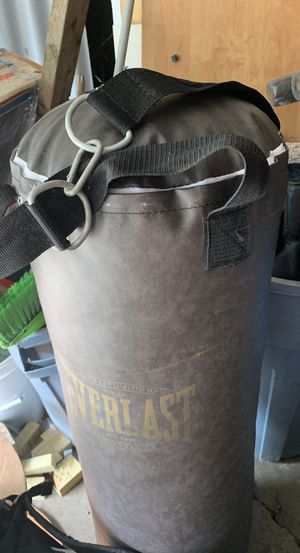 Punching bag and gloves for Sale in Franklin, IN