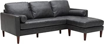 Black leather sectional sofa for Sale in Galloway,  OH