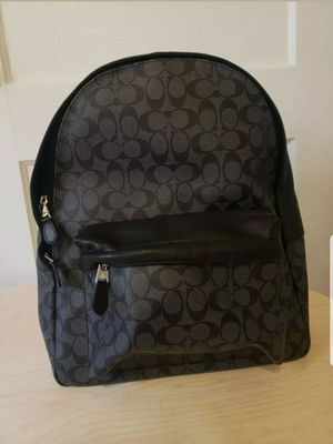 NWT Coach Backpack - Grey & Black Logo for Sale in Atlanta, GA