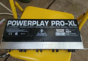Behringer Powerplay Pro-XL HA4700 4-Channel Headphone Amplifier 🎵 Audio Equipment➡ Pro Audio ➡Outboard Gear ➡Utility for Sale in Fort Worth, TX