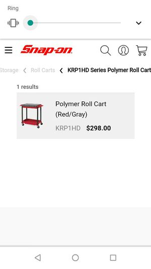 , snap-on rolling tool cart for Sale in Valley Home, CA