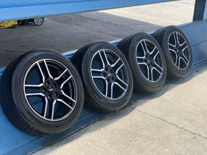 2019 rims for Ford Mustang nice Set tires size 235/5018 $750 for Sale in Kissimmee, FL