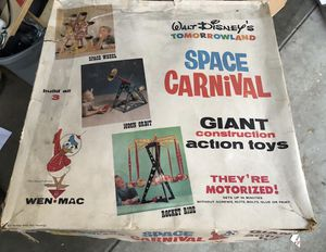 Rare - 1960's 3 TOTAL sets of the Wen-Mac Walt Disney's Tomorrowland Space Carnival Giant Constructions Action toy. for Sale in Sunnyvale, CA