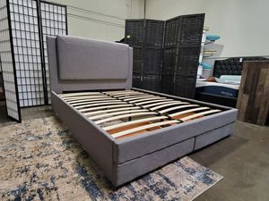 Queen Size Bed Frame with 2 Drawers for Sale in Fountain Valley, CA