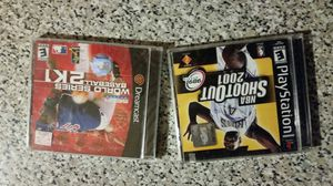 Gaming unit vintage games. 2001 NBA shootout. 2001 World Series to K1. Both brand new never used both for $10. for Sale in Phoenix, AZ