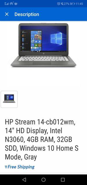 Hp stream laptop for Sale in Sea Bright, NJ