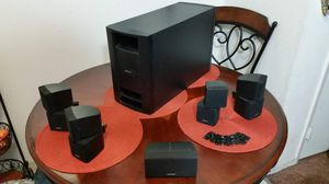 Bose lifestyle PS28 Series III 3 Powered Speakers System Tower Subwoofer Surround Sound Amplifier Home Theater Speakers Black Swivel Cube Wall Mount for Sale in El Cajon, CA
