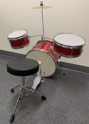 NEW IN BOX Berry 13 Inch Bass Drum Junior Real Drum Set with Throne Cymbal Pedal and Wooden Drumsticks for Sale in Covina, CA