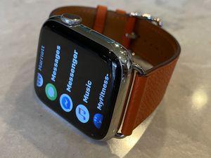 Apple Watch Hermès Series 4 44mm with orange Hermès leather band for Sale in Mill Creek, WA