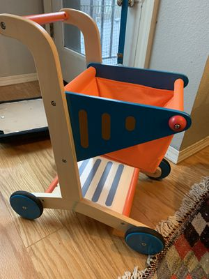 Hape grocery cart, play kitchen store for Sale in Seattle, WA