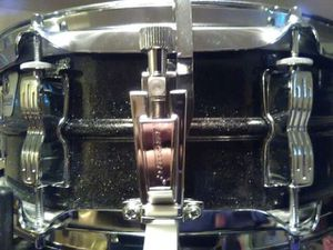 Ludwig Acrolite 90s Black Galaxy Sparkle Aluminum snare drum for Sale in Clinton, MD