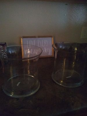 Big wide glass vases for Sale in Austin, TX