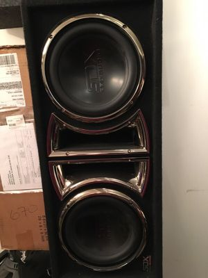 """10"""" SDX pro audio speakers with SDX custom box for Sale in Broadview, IL"""