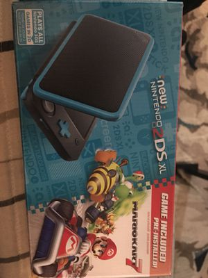 Nintendo 2DS XL Black&Turquise with Mario Kart 7 New for Sale in Cleveland, OH