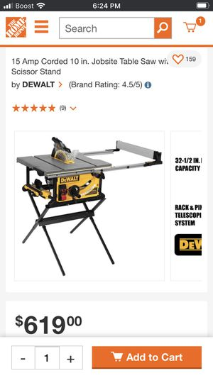 "New dewalt table saw 10""in never used 380 cash for Sale in Salt Lake City, UT"