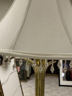 Gold Metal Floor Lamp for Sale in Walpole,  MA